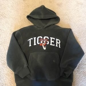 Disney Store Child's XS Gray Fleece Tigger Hoodie
